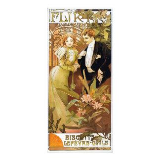 Alphonse Mucha Flirt Vintage Romantic Art Nouveau Photographic Print