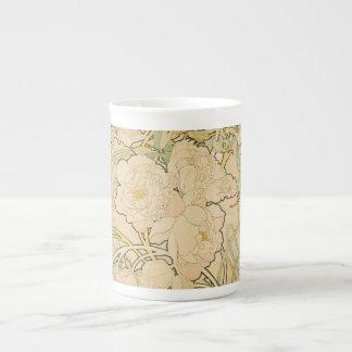 Alphonse Mucha Floral Pattern China Mug