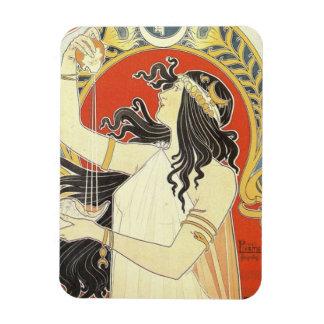 Alphonse Mucha Goddess Art Magnet