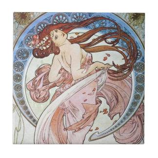 Alphonse Mucha Goddess Tile
