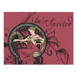 Alphonse Mucha Invites Postcard