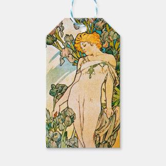 Alphonse Mucha - Iris WB Gift Tags