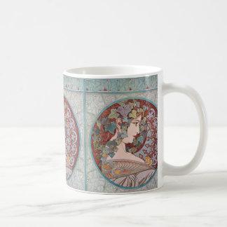 Alphonse Mucha Ivy Art Nouveau Coffee Mug