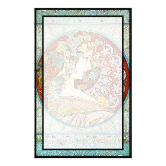 Alphonse Mucha Ivy Stationery