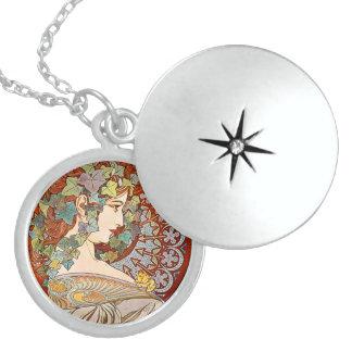 Alphonse Mucha Ivy Sterling Silver Necklace