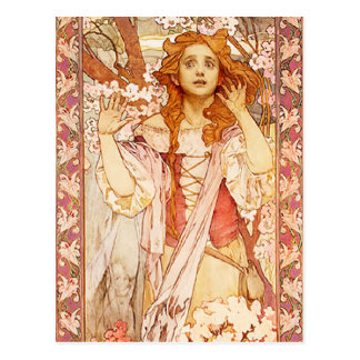 Alphonse Mucha Joan of Arc Postcard