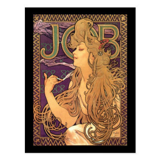 Alphonse Mucha - Job advertisement Postcard