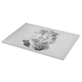 Alphonse Mucha JOB ISOGS Cutting Board