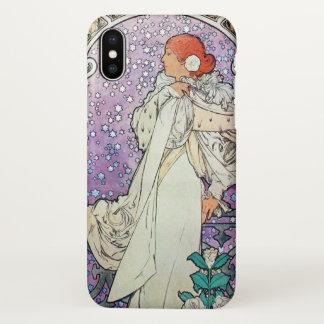 Alphonse Mucha La Dame Aux Camelias Art Nouveau iPhone X Case