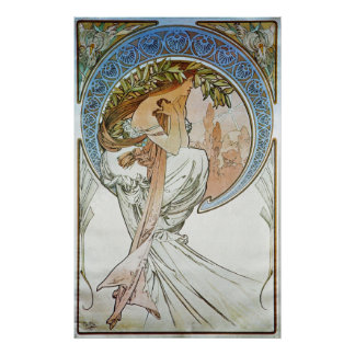 Alphonse Mucha. La Poesie/Poetry, 1898 Poster