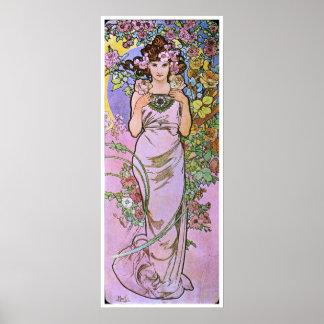 Alphonse Mucha. La Rose/Rose, 1897 Poster