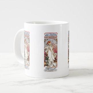 Alphonse Mucha Lady Jumbo Mug