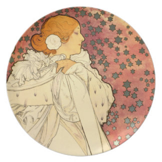 Alphonse Mucha Lady of the Camelias Plate