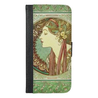 Alphonse Mucha Laurel GalleryHD iPhone 6/6s Plus Wallet Case