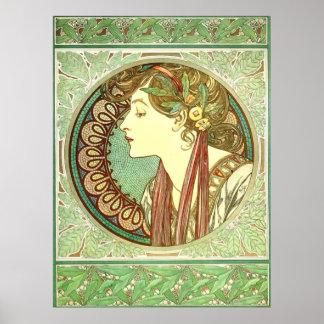 Alphonse Mucha Laurel Vintage Nouveau GalleryHD Poster