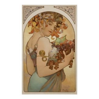 Alphonse Mucha: Le Fruit/Fruit Poster