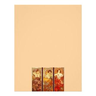 Alphonse Mucha Customized Letterhead