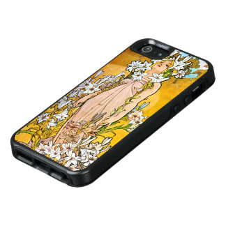 Alphonse Mucha - Lily - White Border OtterBox iPhone 5/5s/SE Case