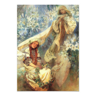 Alphonse Mucha Madonna of the Lilies Invitations