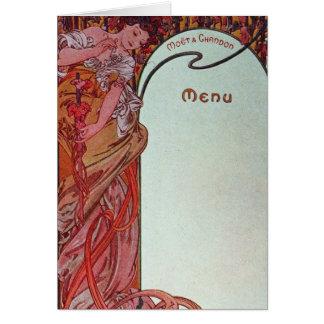 Alphonse Mucha Menu Card