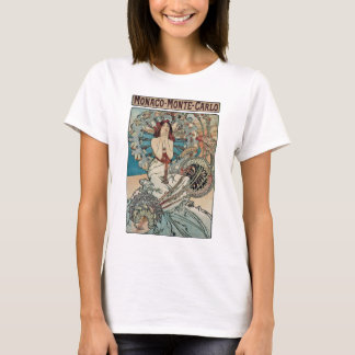 Alphonse Mucha  ~ Monaco Monte Carlo Art Nouveau T-Shirt