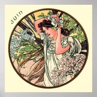 Alphonse Mucha Month Of June Poster