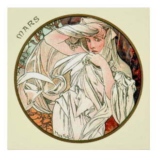 Alphonse Mucha Month Of March Poster