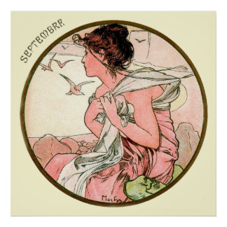 Alphonse Mucha Month Of September Poster