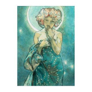Alphonse Mucha Moonlight Clair De Lune Art Nouveau