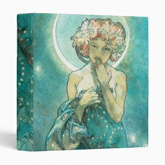 Alphonse Mucha Moonlight Clair De Lune Art Nouveau 3 Ring Binders