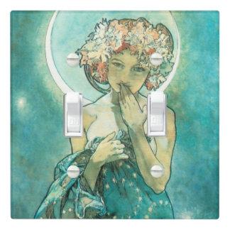 Alphonse Mucha Moonlight Clair De Lune Art Nouveau Light Switch Cover