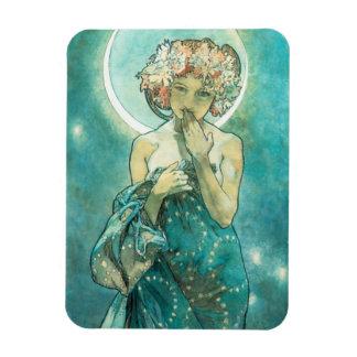 Alphonse Mucha Moonlight Clair De Lune Art Nouveau Magnet