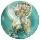 Alphonse Mucha Moonlight Clair De Lune Art Nouveau Plate