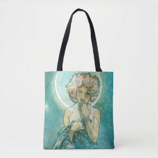 Alphonse Mucha Moonlight Clair De Lune Art Nouveau Tote Bag