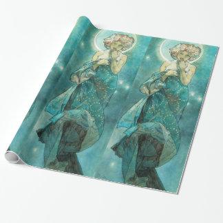 Alphonse Mucha Moonlight Clair De Lune Art Nouveau Wrapping Paper
