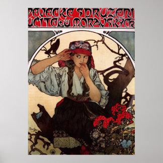 Alphonse Mucha Moravian Teacher's Choir GalleryHD Poster