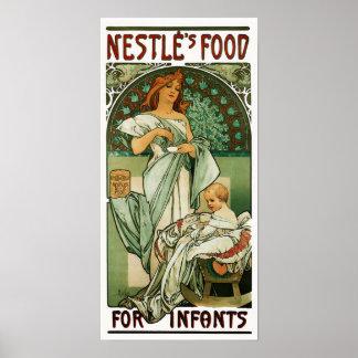 Alphonse Mucha Nestle's Food for Infants Poster