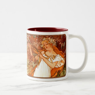 Alphonse Mucha Nouveau Spring Lady Coffee Cup Mug