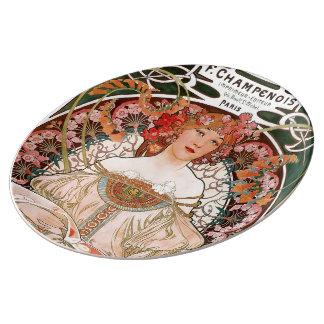 """Alphonse Mucha"" Plate"