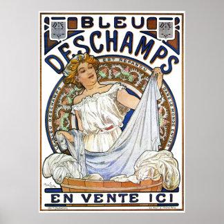 Alphonse Mucha Poster: Art Nouveau- Bleu Deschamps Poster