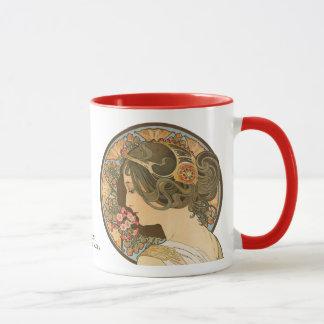 Alphonse Mucha Primrose CC0107 Art Nouveau Mug