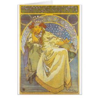 Alphonse Mucha - Princess Hyacint Card