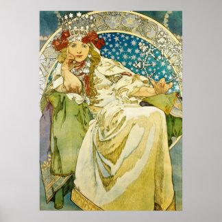 Alphonse Mucha Princess Hyacinth Art Nouveau Poster