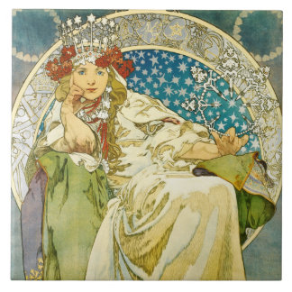 Alphonse Mucha Princess Hyacinth Art Nouveau Tiles