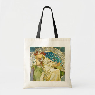 Alphonse Mucha Princess Hyacinth Art Nouveau Tote Bag