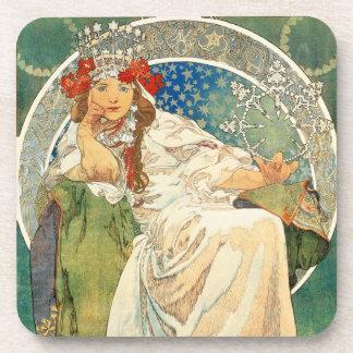 Alphonse Mucha Princess Hyacinth Coasters
