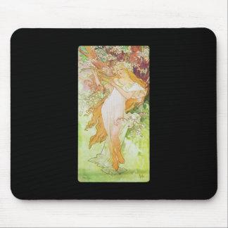 Alphonse Mucha Printemps Spring Mouse Pad