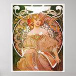 Alphonse Mucha, Reverie/Daydream, 1896. Poster