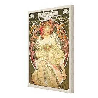 Alphonse Mucha Rêverie Daydream CC0103 Art Nouveau Canvas Print
