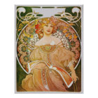 Alphonse Mucha Reverie Daydream Poster